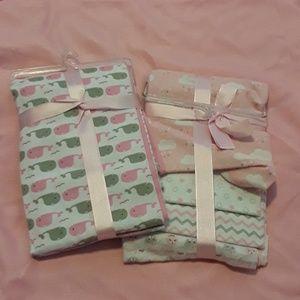 2 - 4 packs of receiving blankets